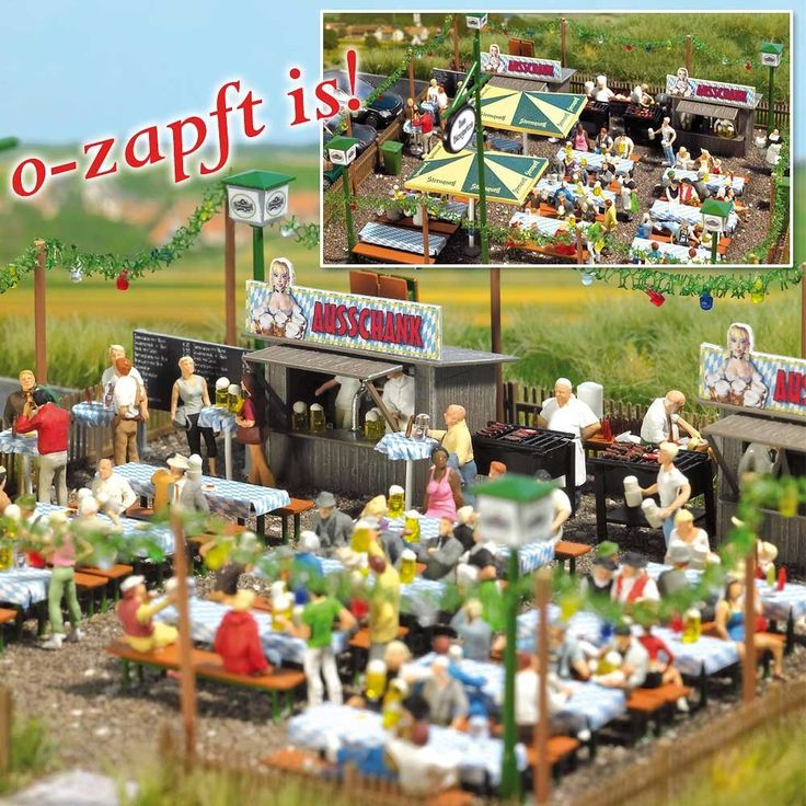 Amazon.com: Busch 1046 Beer Garden: Toys & Games