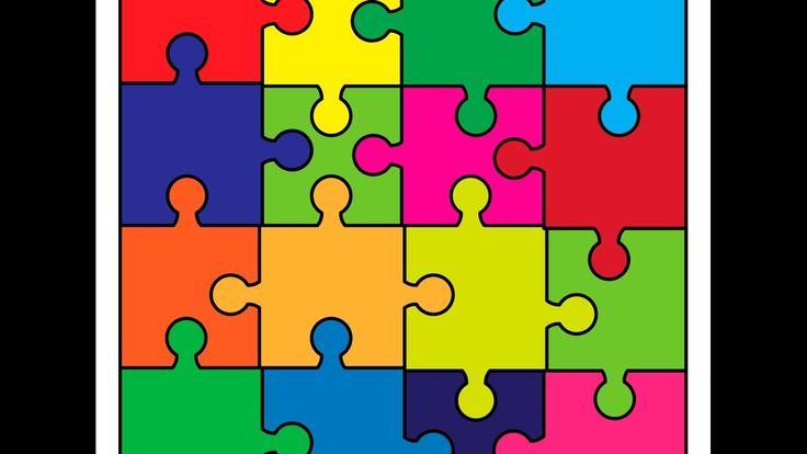 Puzzle background - Adobe Illustrator cs6 tutorial. How to draw puzzle j...