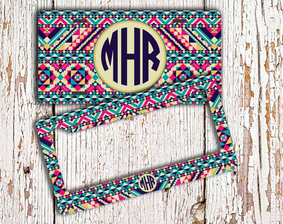 Hey, I found this really awesome Etsy listing at https://www.etsy.com/listing/181593571/cute-license-plate-monogrammed-car-tag