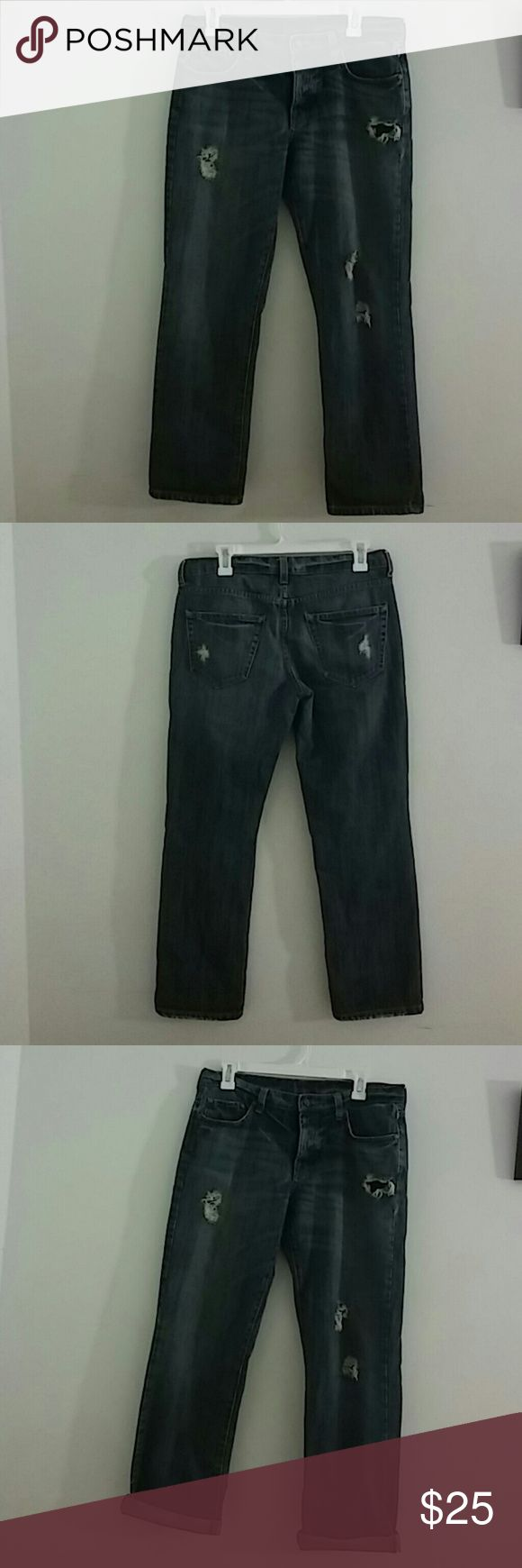 Era of chaos women capri cropped destroyed jeans Era of chaos women capri cropped destroyed jeans sz 27 Jeans Ankle & Cropped
