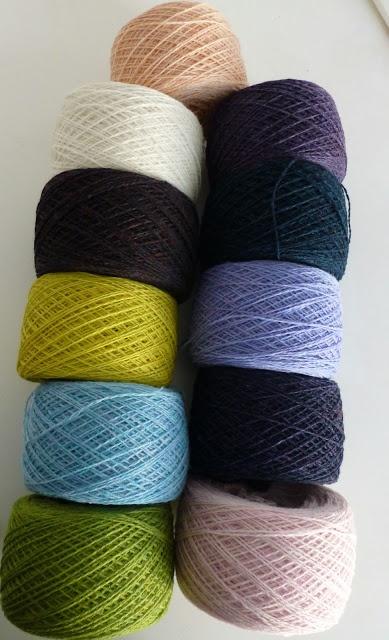 lovely yarn from www.garnudsalg.dk
