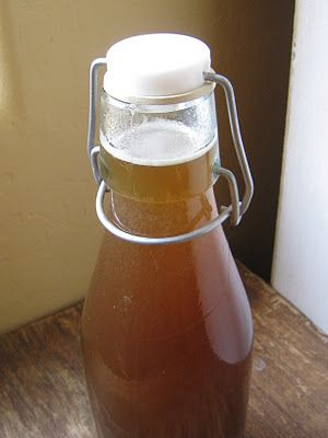 DIY Cough syrup made with honey, echinacea root, ginger root, and licorice root.