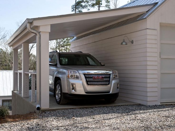 13 best images about garages on pinterest cars outdoor for Shed with carport attached