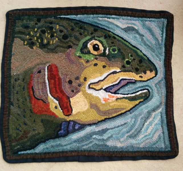 49 Best Hooked Fish Rugs Images On Pinterest