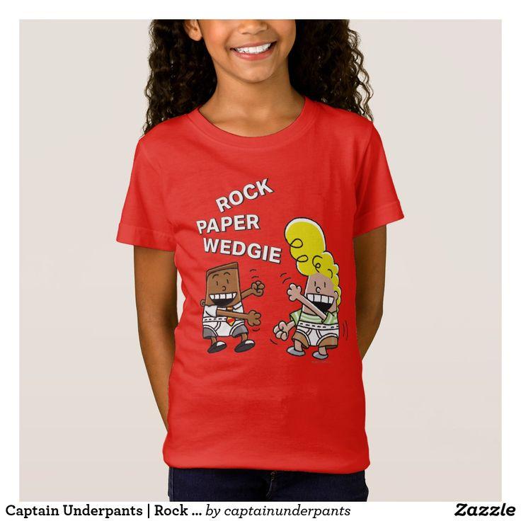 Captain Underpants | Rock Paper Wedgie. Producto disponible en tienda Zazzle. Vestuario, moda. Product available in Zazzle store. Fashion wardrobe. Regalos, Gifts. Trendy tshirt. #camiseta #tshirt