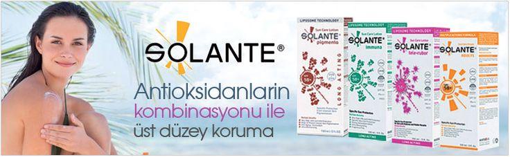 Solante | Solante Güneş ürünleri | Dermoeczanem online dermokozmetik sitesinde tüm Solante Güneş losyonlarını en avantajlı fiyatlarla bulabilirsiniz. Solante güneş ürünleri markası farklı ciltp tiplerine uygun farklı formüllere sahip seçenekler sunan kaliteli ve sağlıklı bir güneşten korunma markasıdır.