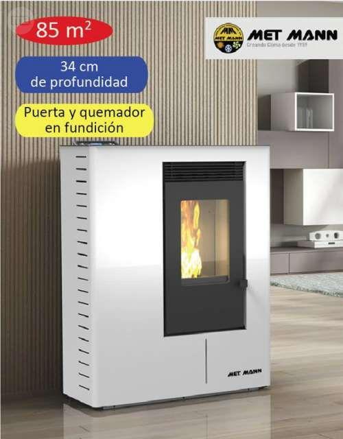 . Nueva estufa de biomasa SLIM 8 MET MANN de 10,05 kw. Apta para calefactar…