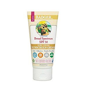 Badger All Natural Sunscreen, SPF 30, Unscented 2.9 oz (87 g): Amazon.co.uk: Health & Personal Care