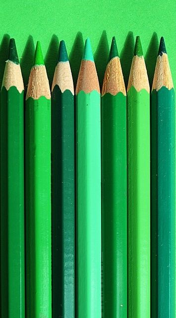 Whenever I would color a picture that had trees, bushes, grass, etc, I had to include every shade of green, always!