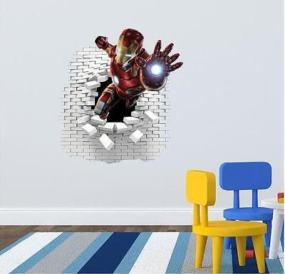Iron man wall stickers decal 58 x 55 cm