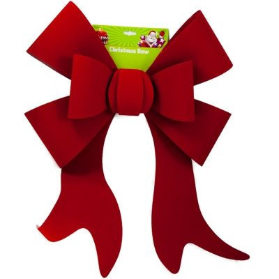 GIANT RED VELVET CHRISTMAS BOW