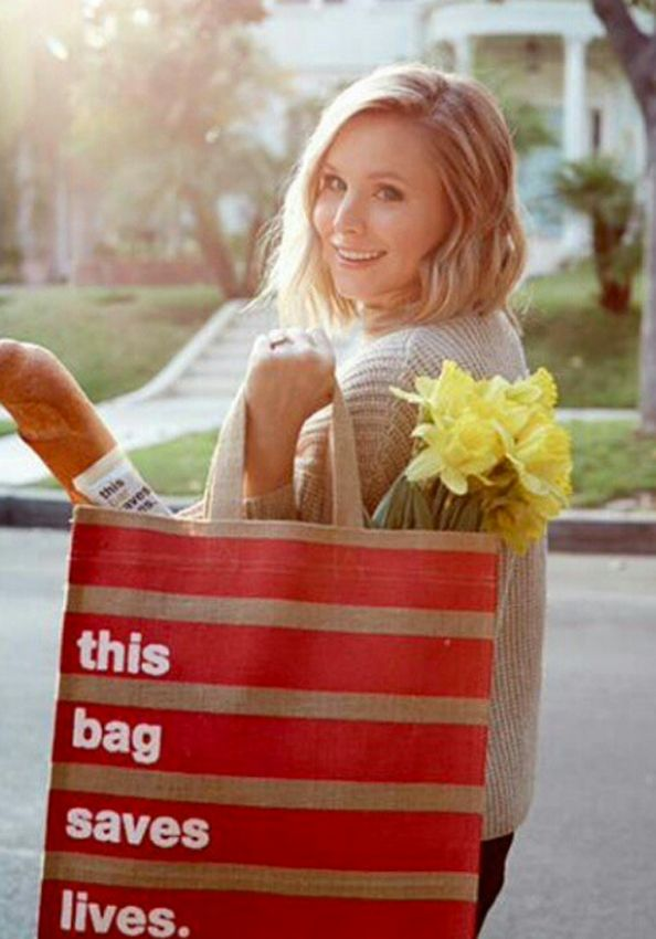 Buy a Bag, Save a Life: Kristen Bell Designs a Market Tote for a Good Cause  #InStyle