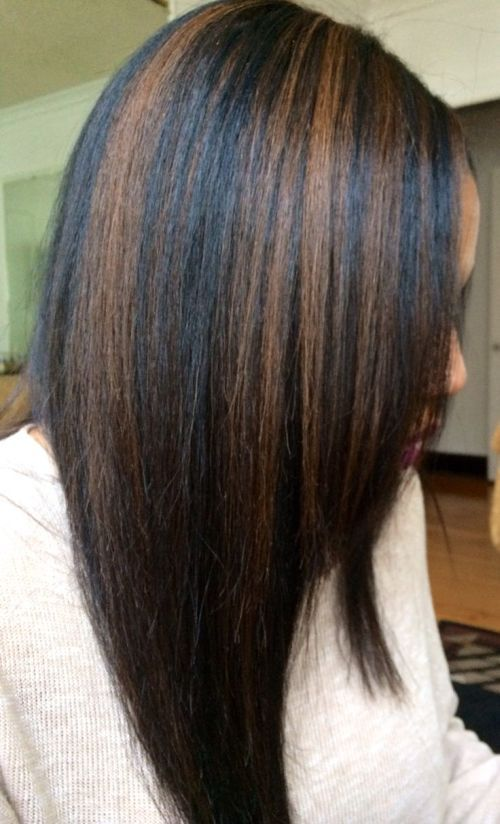Best 25 highlights on african american hair ideas on pinterest black hair with caramel highlights thinking of doing some slight highlights like this pmusecretfo Image collections