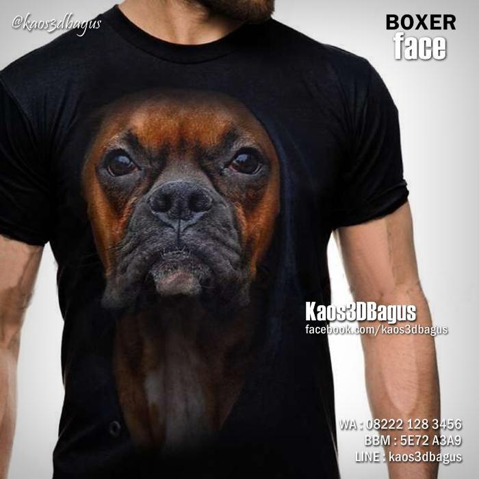 Kaos BOXER DOG, Kaos DOGGY, Kaos GAMBAR ANJING, Kaos ANJING BOXER, Dog Lover, Animal Lover, Kaos3D, https://www.facebook.com/kaos3dbagus, WA : 08222 128 3456, LINE : Kaos3DBagus