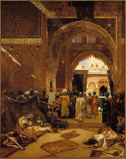Le lendemain d'une victoire à l'Alhambra 1882 by Jean-Joseph Benjamin-Constant,   at the Musée des beaux-arts de Montréal (MBAM) in Canada