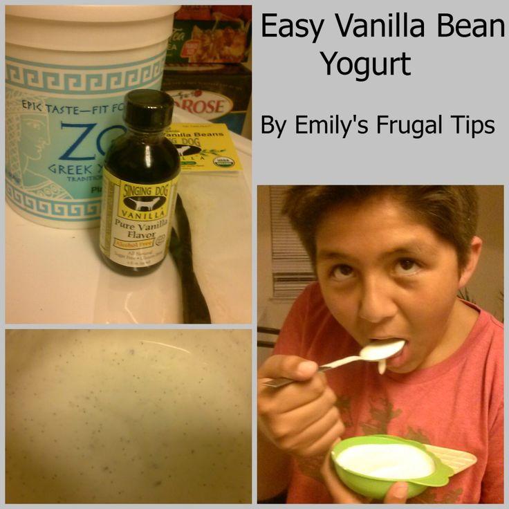 Easy Homemade Vanilla Bean Yogurt | food | Pinterest