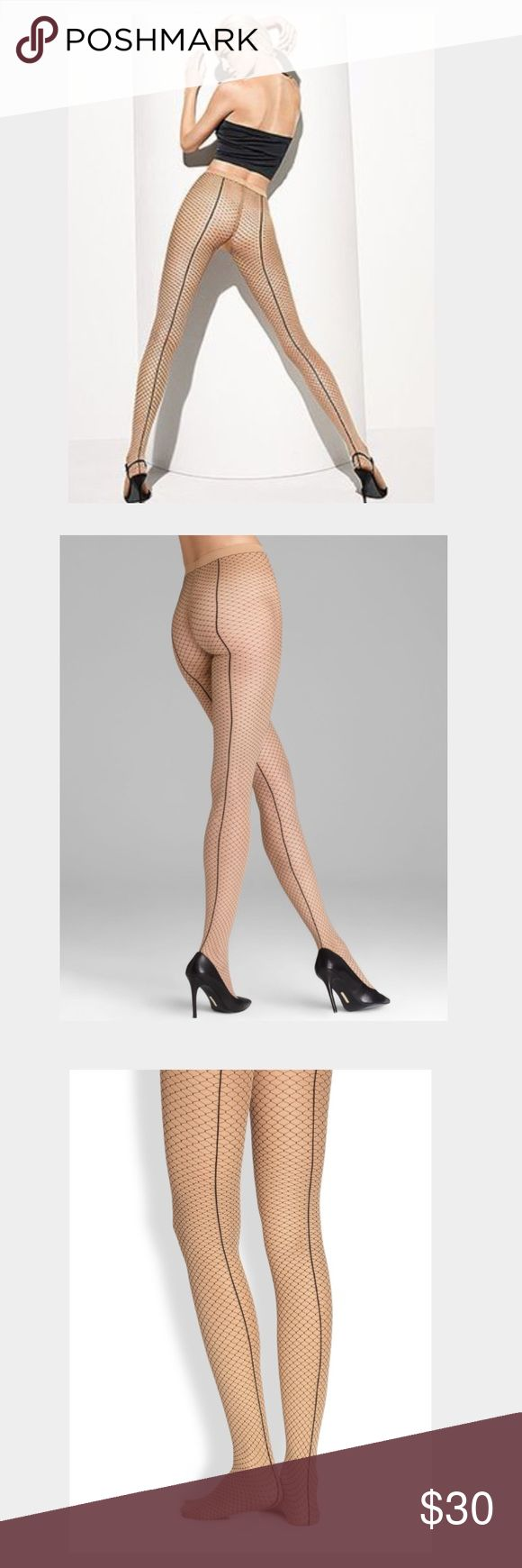 Wolford Iman Tights (Sahara/ Black) Medium Brand new - still in package Wolford Accessories Hosiery & Socks