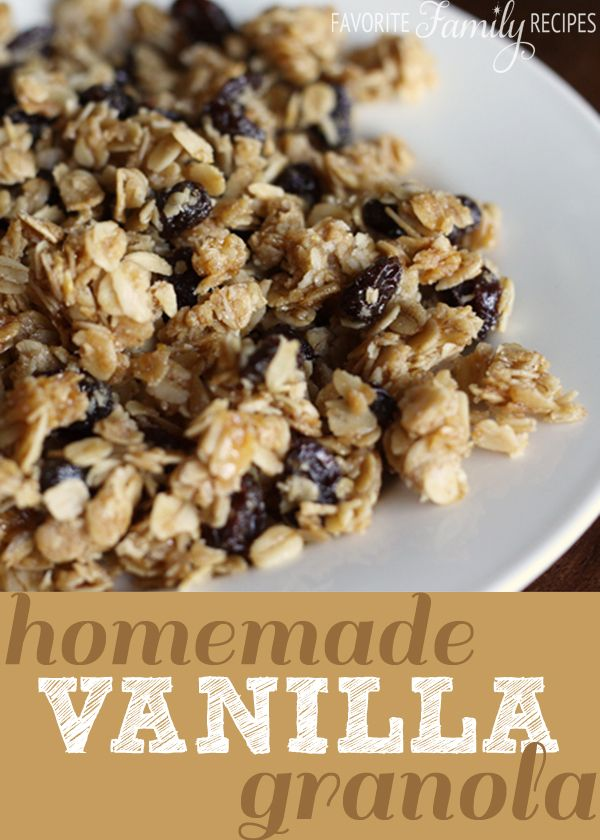 Homemade Vanilla Granola - I love making my own granola. Not only do I feel like I am saving money, but homemade granola tastes SO much better than granola from the store. I don't care what anyone says, homemade granola trumps anything you can find at the store.