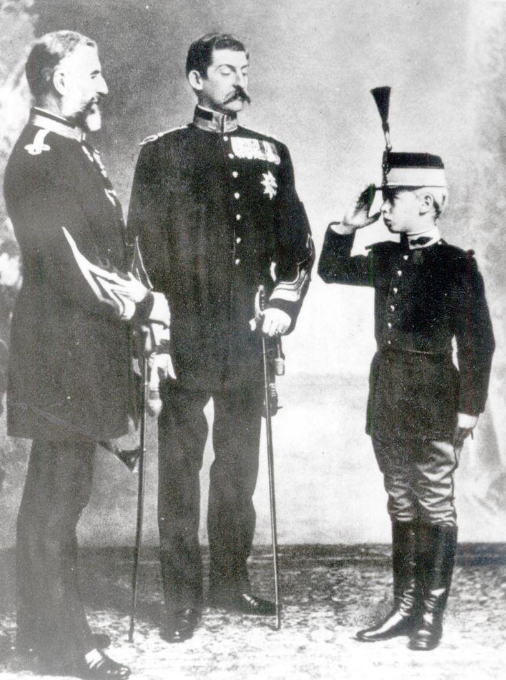 King Carol I, King Ferdinand I (Prince Ferdinand of Hohenzollern-Sigmaringen) e King Carol II (Príncipe Carol da Romenia) Three Generations.