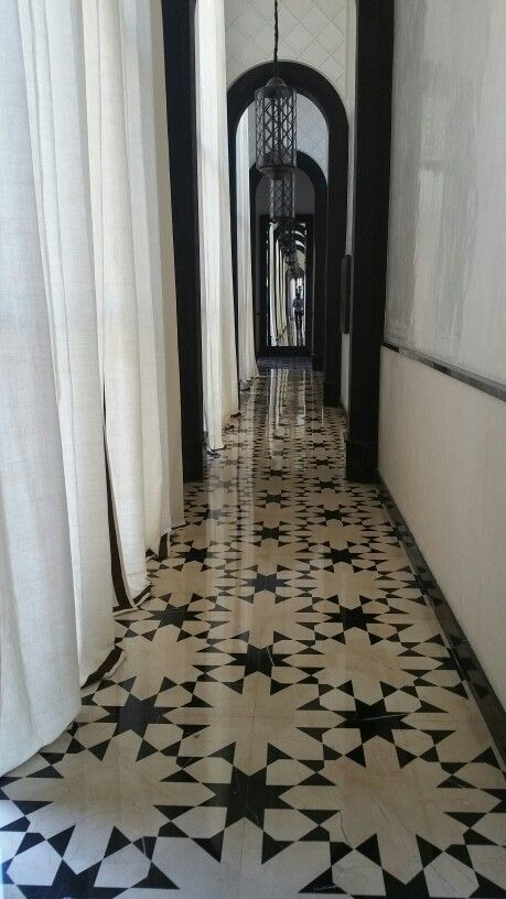Love the flooring @Gilles & Boissier Mandarin Oriental, Marrakech