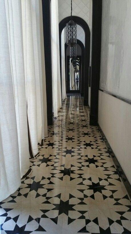 Love the flooring @Gilles & Boissier Mandarin Oriental, Marrakech