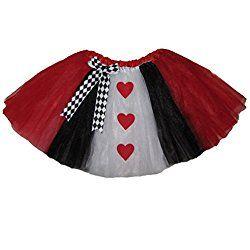 Adult LONG QUEEN of HEARTS Tutu Halloween Costume