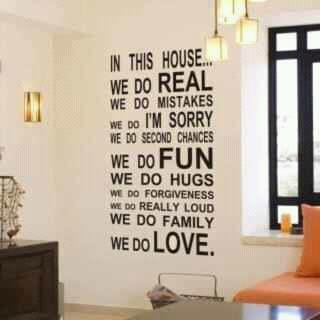 In this house.....