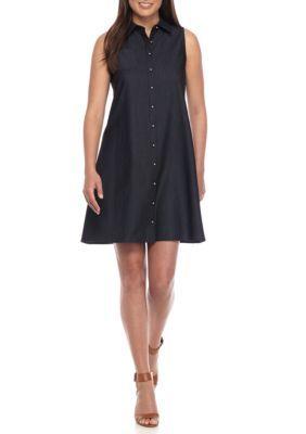 Calvin Klein Blue Chambray Shirt Dress