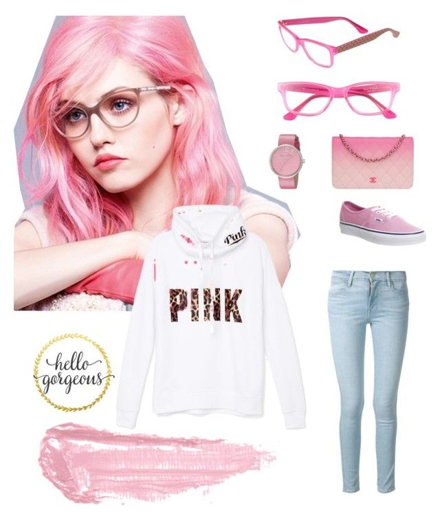 """Pink"" by alinersmolleri on Polyvore featuring moda, Chanel, Vans, Marc by Marc Jacobs, Isaac Mizrahi, Victoria's Secret PINK, Frame Denim e By Terry:"