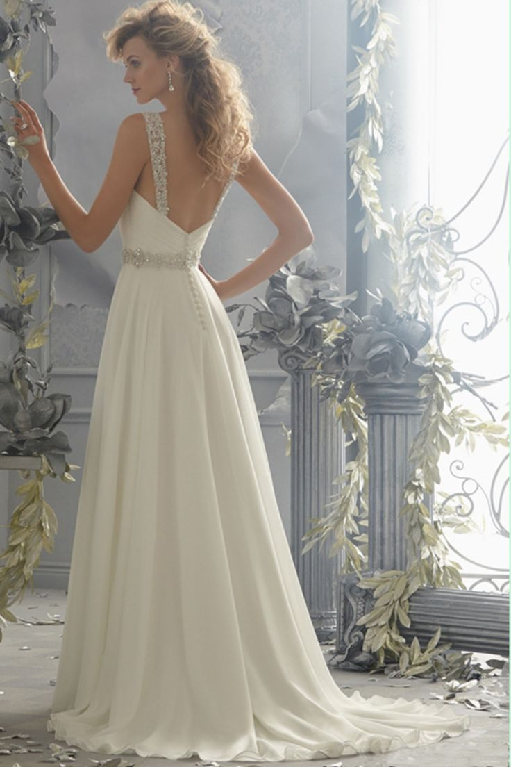 2014 Sweetheart A Line Wedding Dress Pleated Bodice With Detachable Straps Beaded Chiffon
