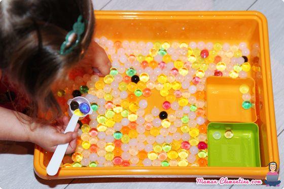 Activité sensorielle : Les perles d'eau