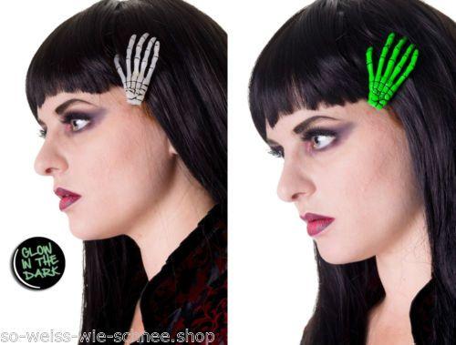Banned-Haarclips-Zombie-Skeleton-Hands-Gothic-Rockabilly-Hairclips-Haarschmuck