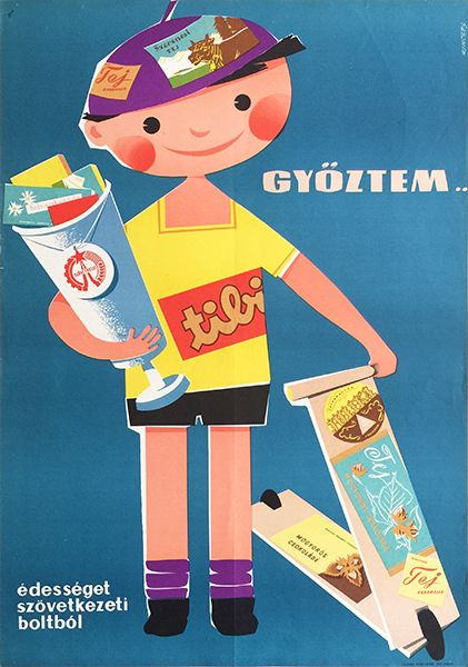 holespoles: I won! Buy sweets from the Cooperative Stores | Budapest Poster Gallery