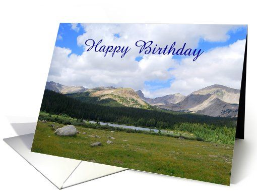 Happy Birthday Brainard Lake Rocky Mountains Colorado Custom – Mountain Birthday Cards