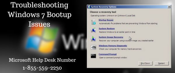 Boot up issues is common issue on windows 7. To resolve such issue you may call us @ 1-855-559-2230 and visit us https://www.microsoft-help-desk.com/help-for-windows-7/ for live chat with our assistance