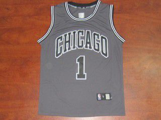reputable site 45871 536b4 chicago bulls 1 derrick rose red black resonate fashion jersey