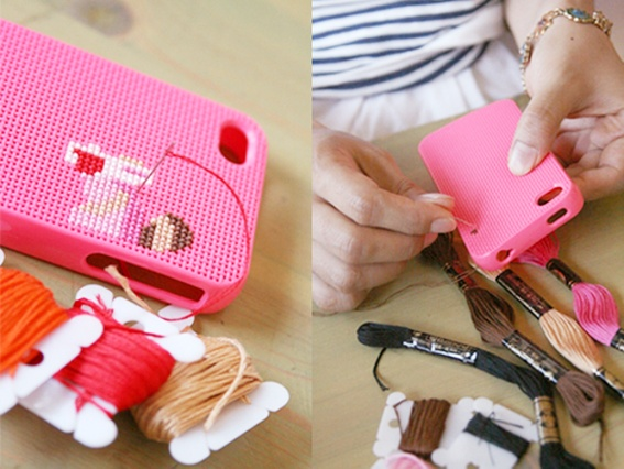 """DIY"" cross stitch iPhone case: yay or nay?"