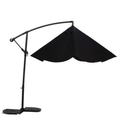 Malta 3.1m Black Overhanging Parasol | Departments | DIY at B&Q