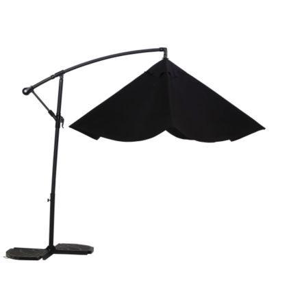 Malta 3.1m Black Overhanging Parasol | Departments | DIY at B&Q