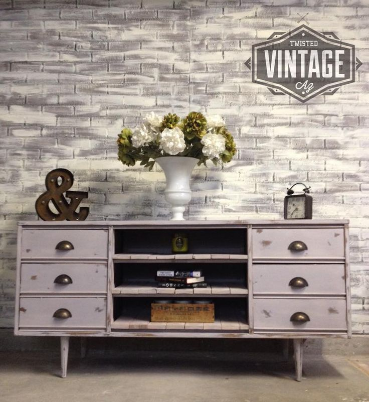 Mid Century Dresser Refinished And Turned Into TV Console By Twisted  Vintage AZ