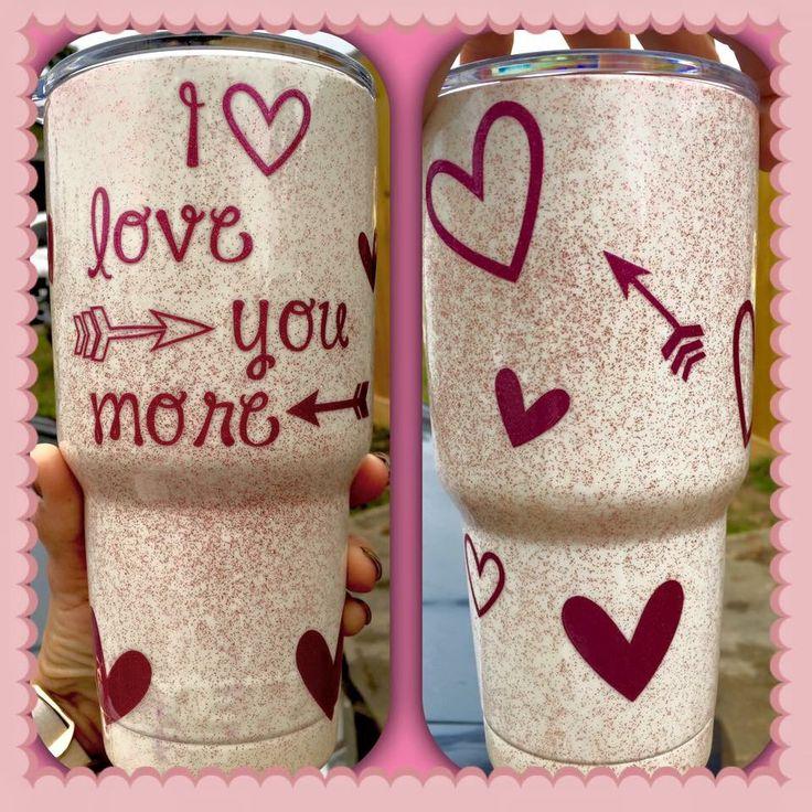 Custom valentine YETI cup  https://www.facebook.com/JoJos-Custom-Powdered-Coated-Yeti-Ramblers-1744307955793025/