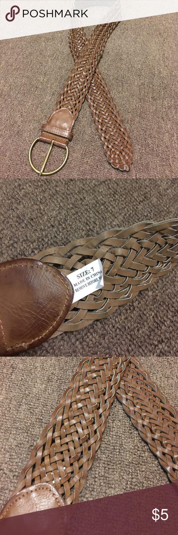 Brown braided belt Size 7 brown braided belt Accessories Belts