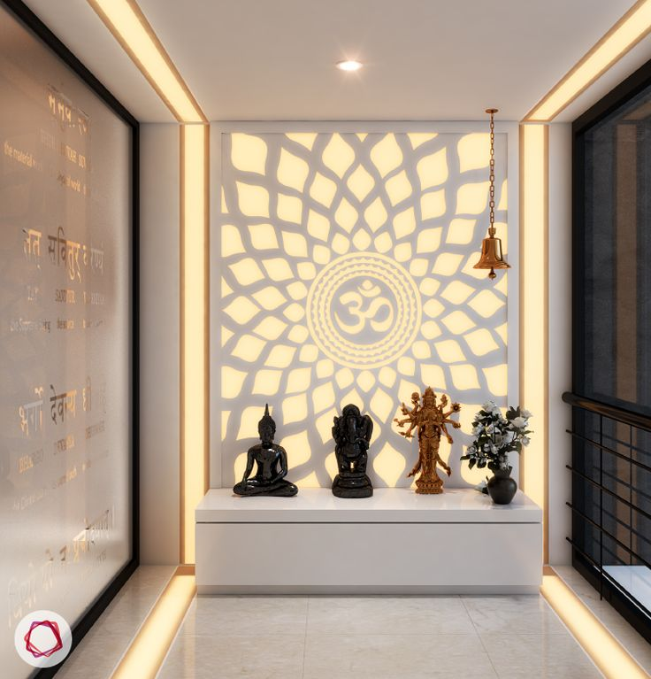 Mandir Designs · Contemporary HomesContemporary Interior DesignInterior  DesigningPuja ...