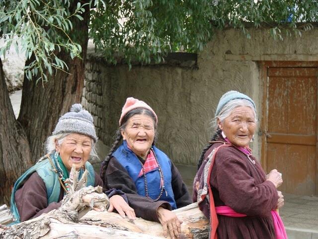 The three old ladies of Leh, Ladakh