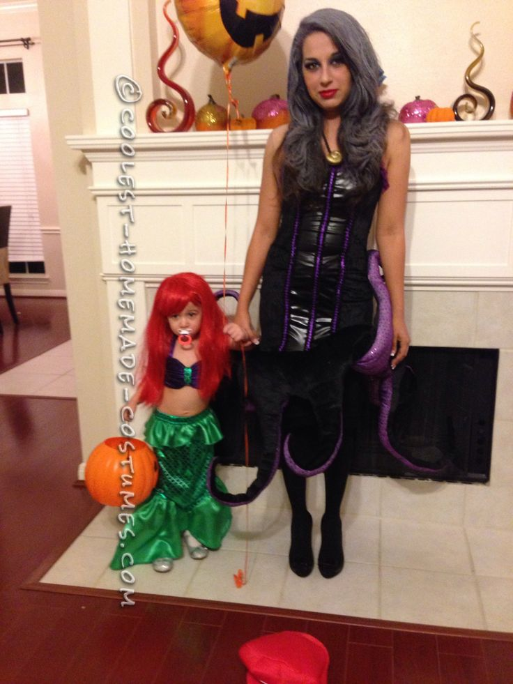 Homemade Toddler Mermaid Costume (and Mommy Ursula)... Coolest Halloween Costume Contest