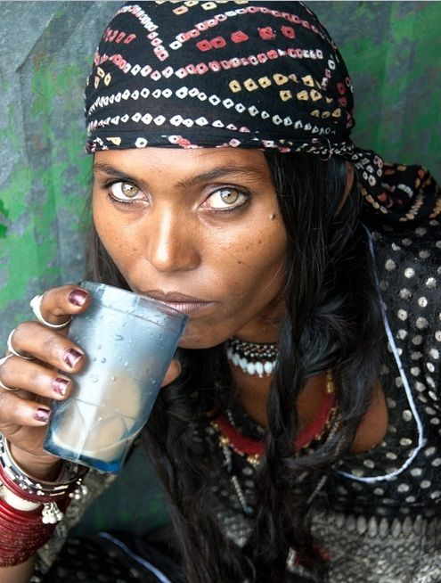 A gypsy woman and what eyes!