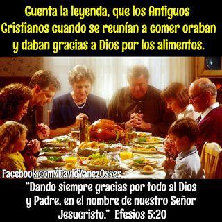 David Yañez Osses: Dando Gracias a Dios por los alimentos