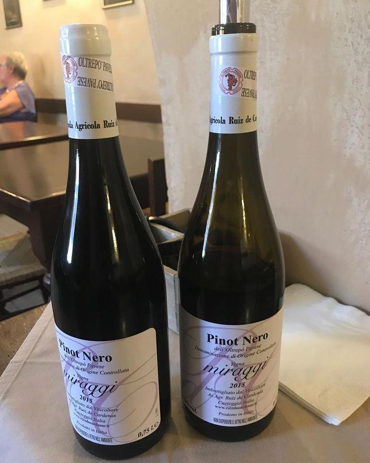 """Gianluca Ruiz De Cardenas griffe del Pinot nero dell'Oltrepò Pavese DOC. """"Vigna Miraggi"""" 2015: da degustare fino all'ultimo sorso. #weloveoltrepo #oltrepopavese #pinotnero #pinotnoir #ruizdecardenas #casteggio"""