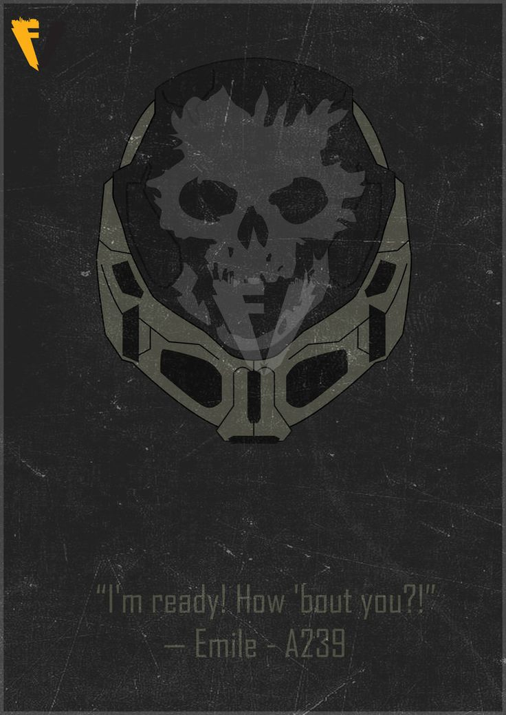 Halo Reach Emile Helmet Poster by FALLENV3GAS on DeviantArt