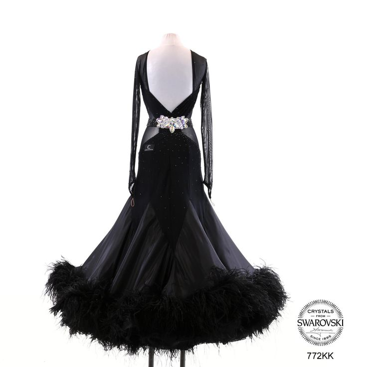 Black ballroom dancing dresses